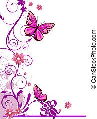 floral design - vector illustration of colorful floral...