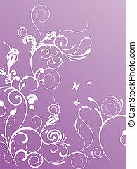 floral design - vector illustration of floral elements on a ...