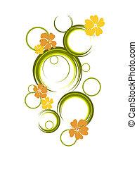 floral, diseño abstracto