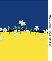 Floral Divider Background Vector Illustration