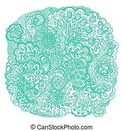 Floral doodle tattoo design.