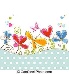 floral, douche bébé