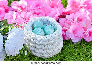 Floral easter background.