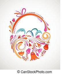 Floral Easter basket - Easter basket with floral pattern