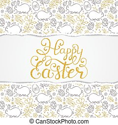 easter pattern with torn paper