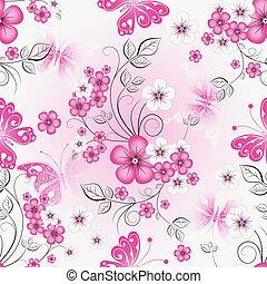 Floral effortless spring pattern