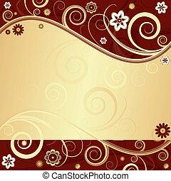 Floral  elegant background (vector)