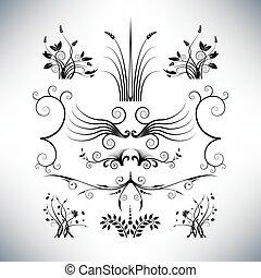 floral, elegant, ontwerpen