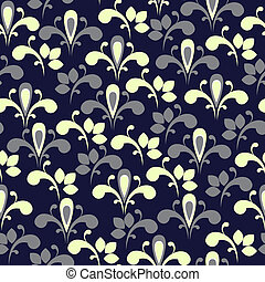 floral, elegant, seamless, achtergrond