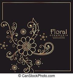 floral, elegante, desenho, padrão experiência