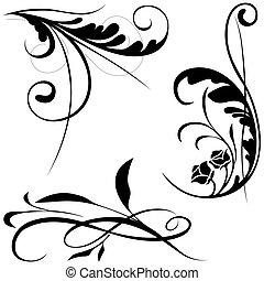 floral elem, b betű