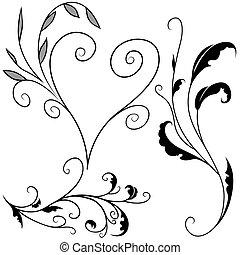 floral elem, g betű