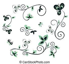floral elem, tervezés