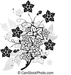 Floral elements for design, vector