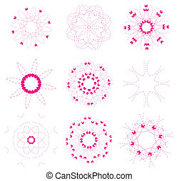 floral  elements set