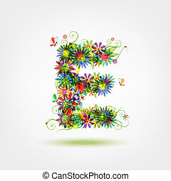 floral entwurf, dein, brief