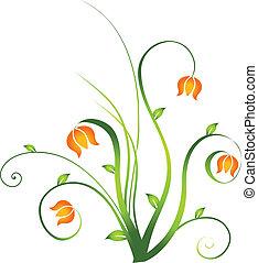 floral entwurf, element