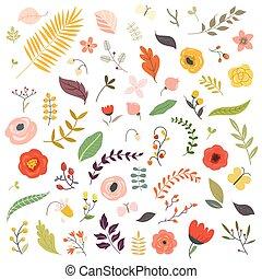 floral entwurf, elements.