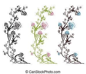 floral entwurf, freigestellt
