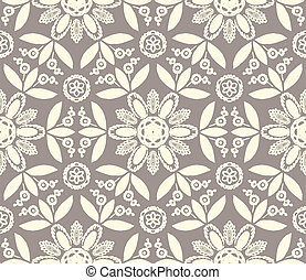 Floral ethnic pattern - Floral seamless vector pattern with ...