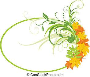 floral, experiência., abstratos, quadro