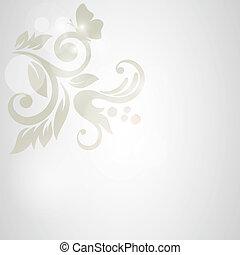floral, experiência., casório, cartão, ou, convite, com,...