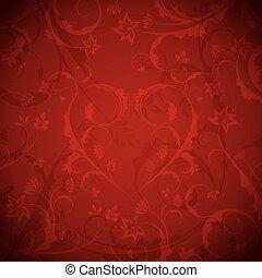floral, experiência vermelha
