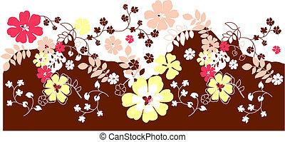 floral, fleur, fond
