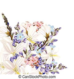 floral, fleurs, fond