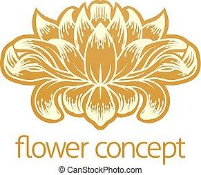 floral, flor, projeto abstrato, conceito, ícone