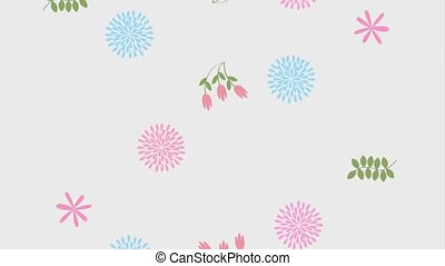 floral flower branches ornament delicate animation hd