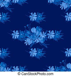 Floral flower cosmos crocus background vector illustration