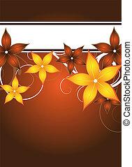 floral flyer design