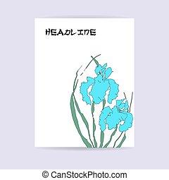 Floral flyer design.