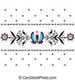 Floral folk pattern