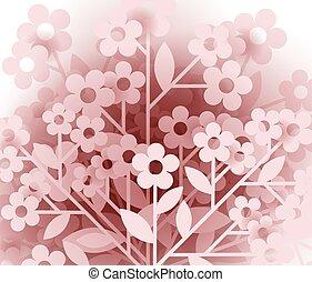 floral, fond