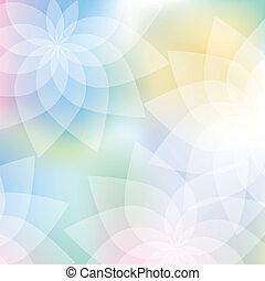 floral, fond, dans, couleurs pastel