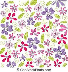 floral, fond, paques