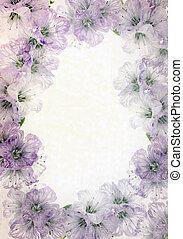 floral, fondo., delicado