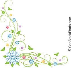 floral, fondo.