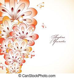 floral, fondo., vector