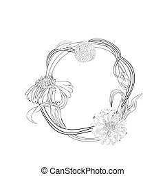 Floral font, Letter O