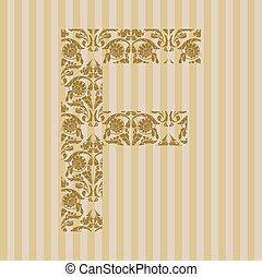 floral, font., lettre f
