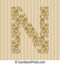 floral, font., lettre n