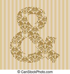 Floral font. Symbol &