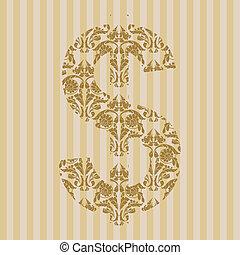 Floral font. Symbol $