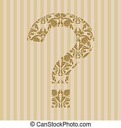 Floral font. Symbol ?