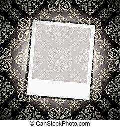 floral, foto, papel parede, instante