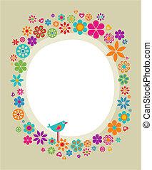 Floral frame - 2