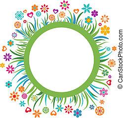 floral, frame, -, 3